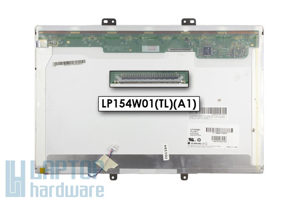 LG LP154W01-TLA1 15,4 inch WXGA CCFL használt matt laptop kijelző
