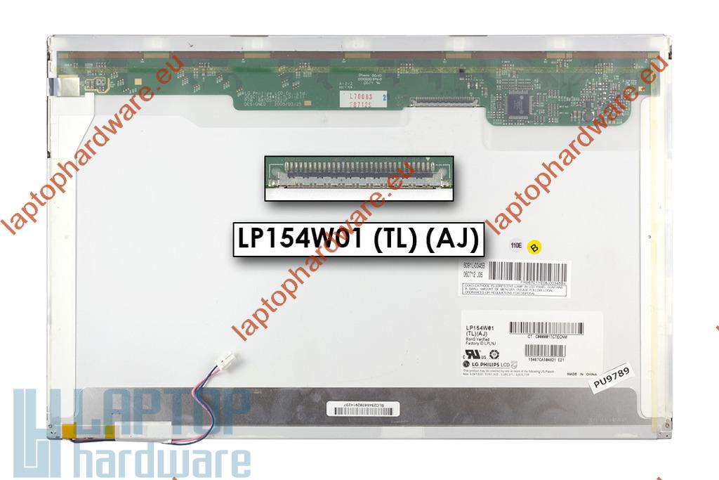 LG LP154W01-TLAD 15,4 inch WXGA CCFL használt matt laptop kijelző