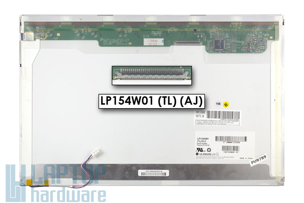 LG LP154W01-TLAJ 15,4 inch WXGA CCFL használt fényes laptop kijelző