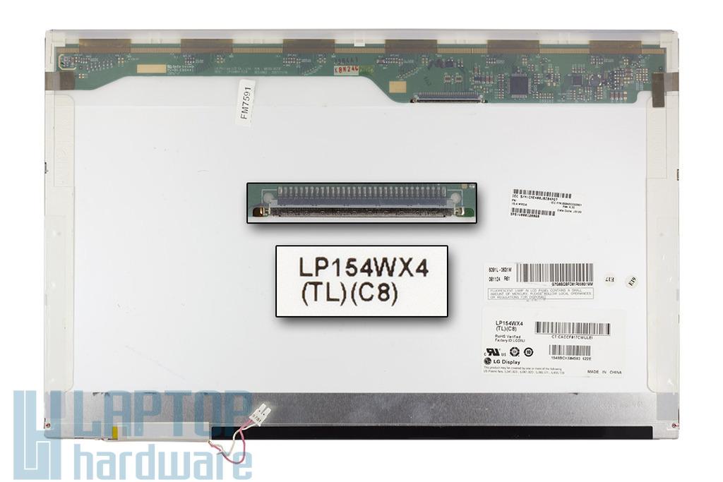 LG LP154WX4-TLC8 WXGA 15,4 inch 1280x800 használt fényes LCD laptop kijelző