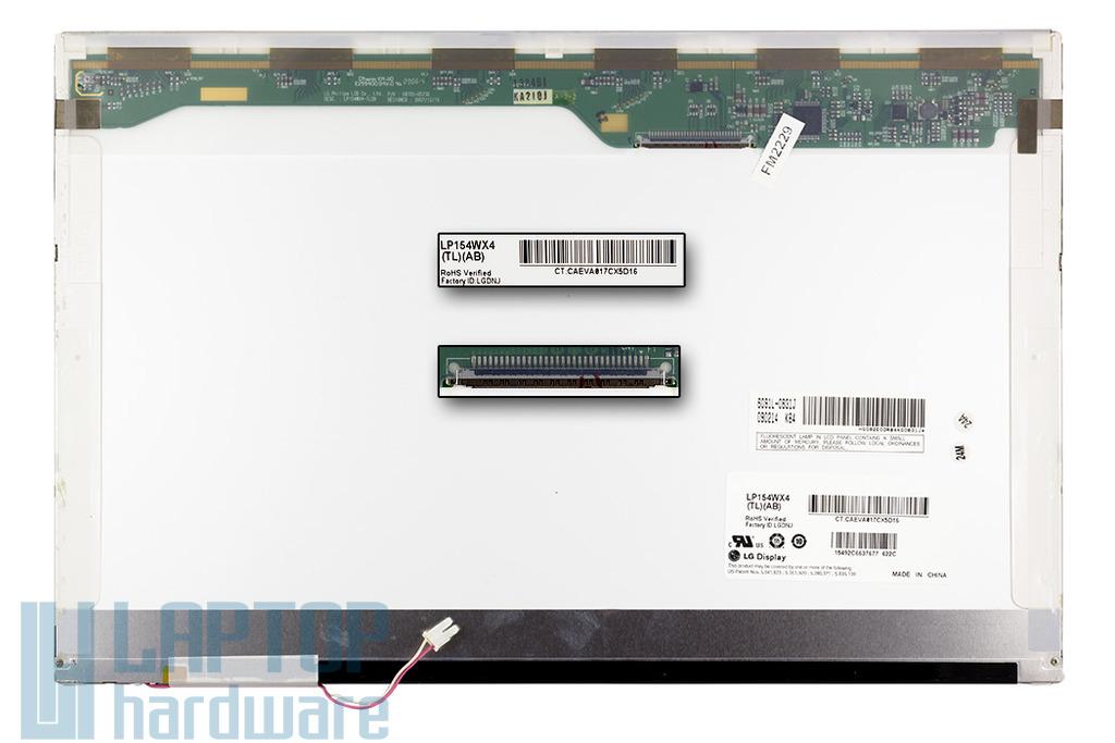 LG LP154WX4-TLAB 15.4 inches használt matt laptop kijelző