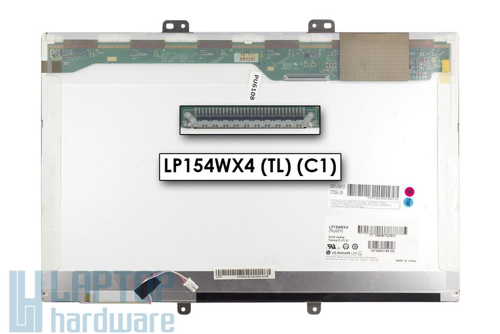 LG LP154WX4-TLC1 WXGA 15,4 inch 1280x800 használt LCD fényes laptop kijelző