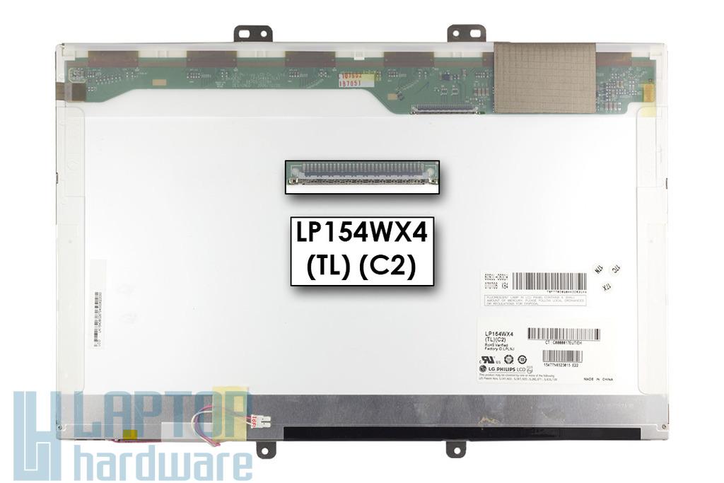 LG LP154WX4-TLC2 WXGA 15,4 inch 1280x800 használt fényes laptop kijelző