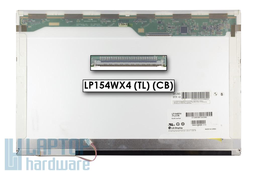 LG LP154WX4-TLCB WXGA 15,4 inch 1280x800 használt fényes laptop kijelző