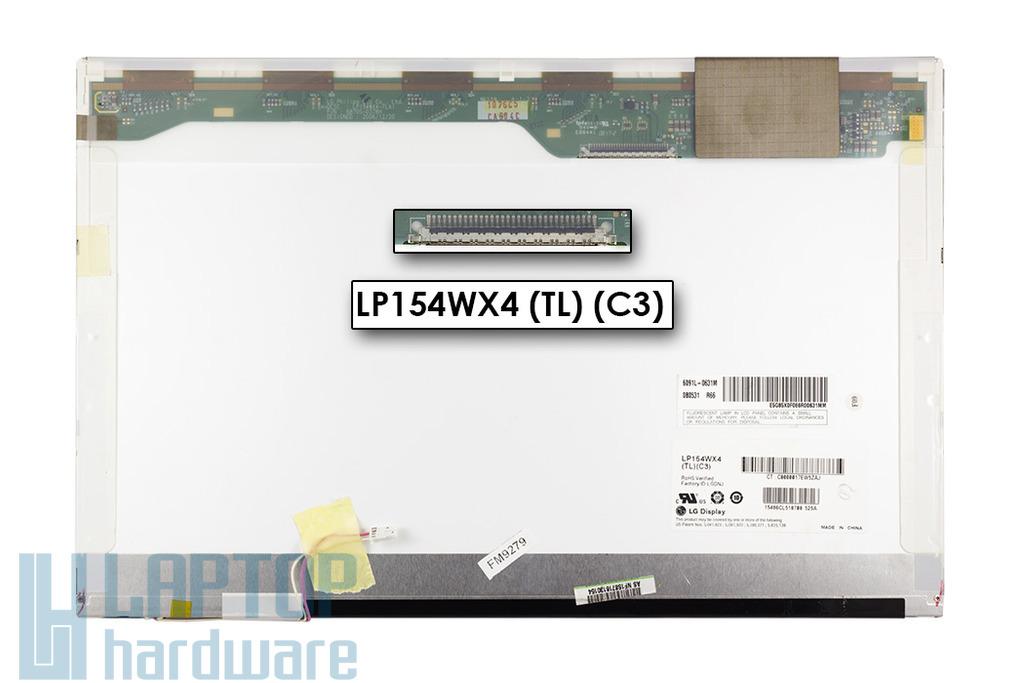 LG LP154WX4-TLC3 WXGA 1280x800 használt B kategóriás fényes notebook kijelző