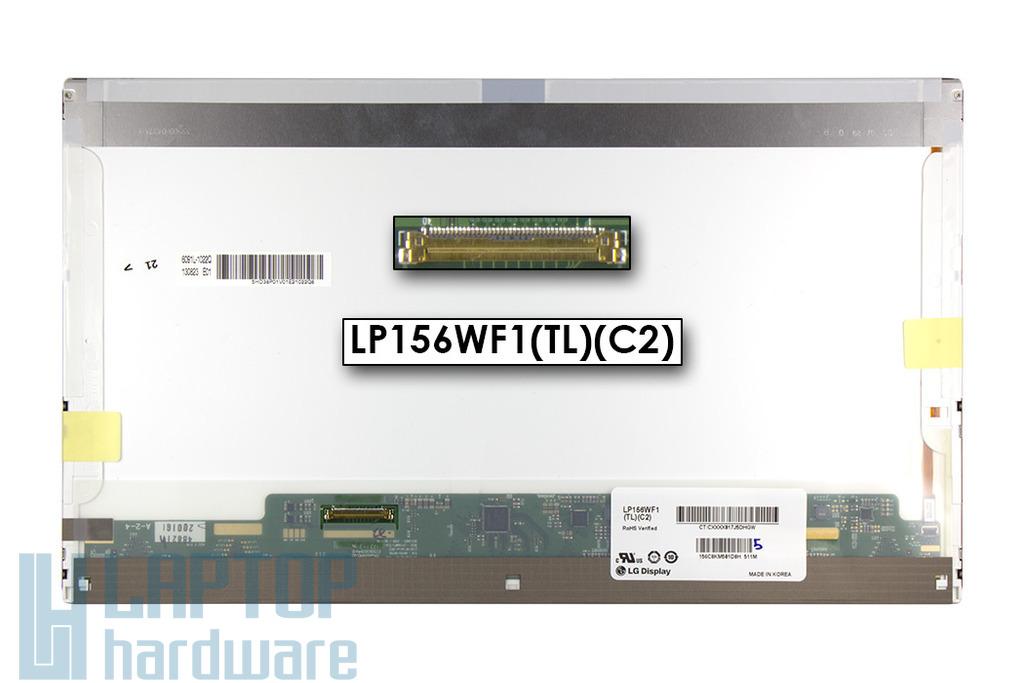 Gyári új fényes 15.6'' Full HD (1920x1080) LED laptop kijelző (csatlakozó: 40 pin - bal)