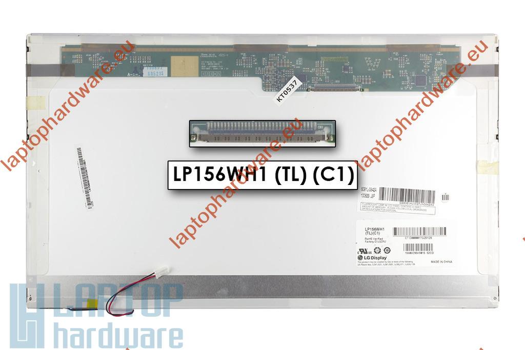 LG LP156WH1-TLC1 1366x768 HD CCFL használt  ''C'' kategóriás laptop kijelző