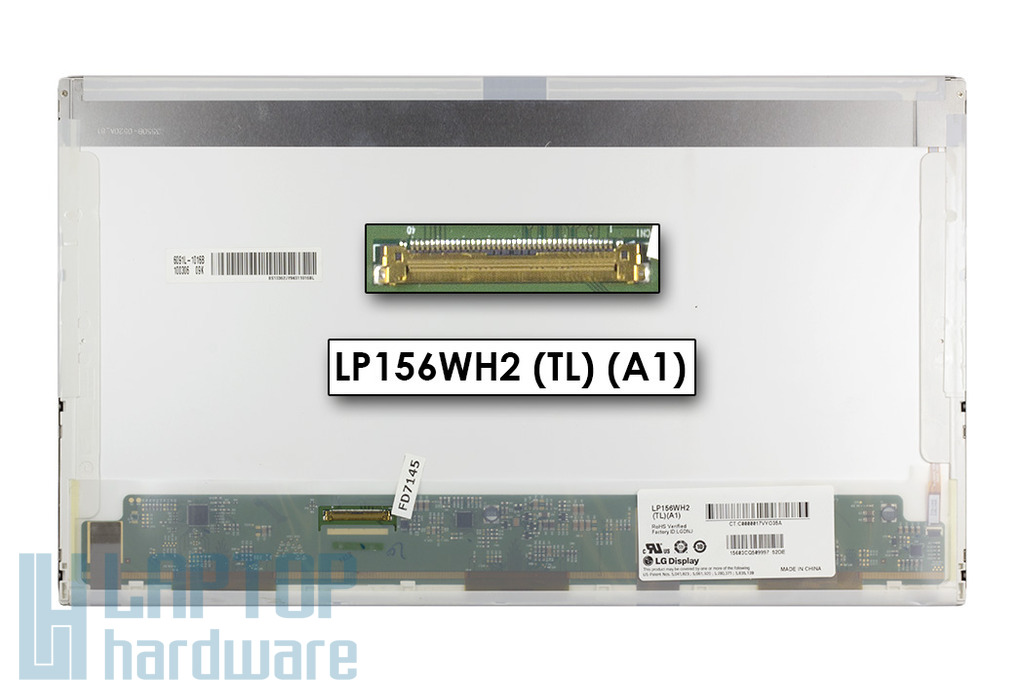 LG LP156WH2-TLA1 15,6 inch HD LED használt fényes kijelző