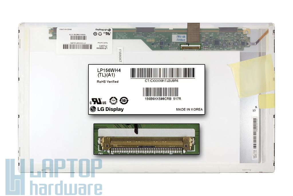 LG LP156WH4-TLA1 1366x768 (15,6inch) HD LED B kategóriás használt fényes laptop kijelző
