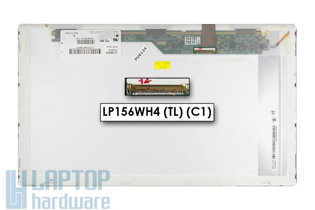 """LG LP156WH4-TLC1 15,6 inch WXGA 1366x768 HD LED """"C"""" kategóriás használt fényes laptop kijelző"""