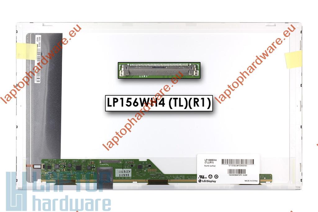 LG LP156WH4-TLR1 WXGA 1366x768 HD LED használt matt laptop kijelző