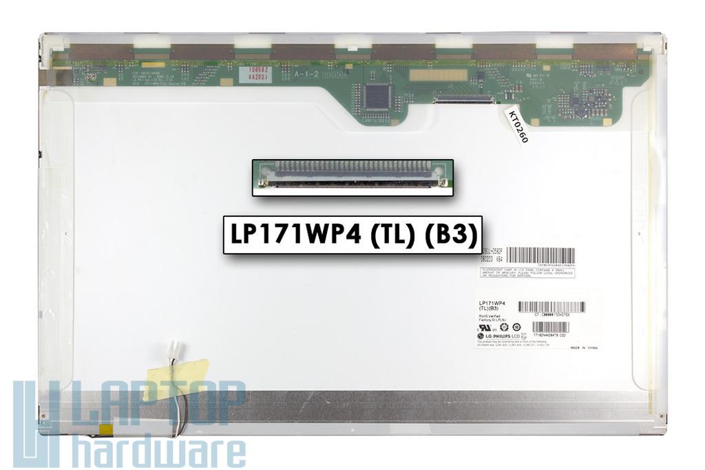 LG LP171WP4-TLB3 1440x900 WXGA+ használt fényes notebook kijelző