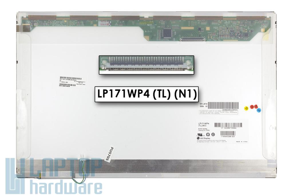 LG LP171WP4-TLN1 1440x900 WXGA+ használt fényes notebook kijelző