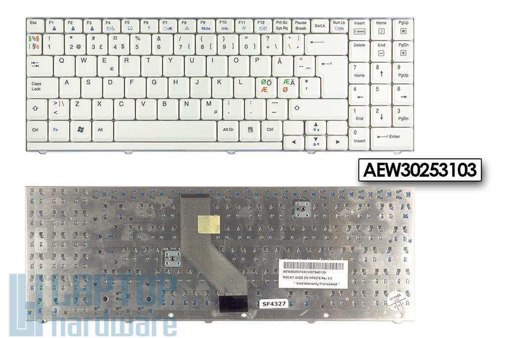 LG R500 gyári új skandináv fehér laptop billentyűzet (AEW30253103)