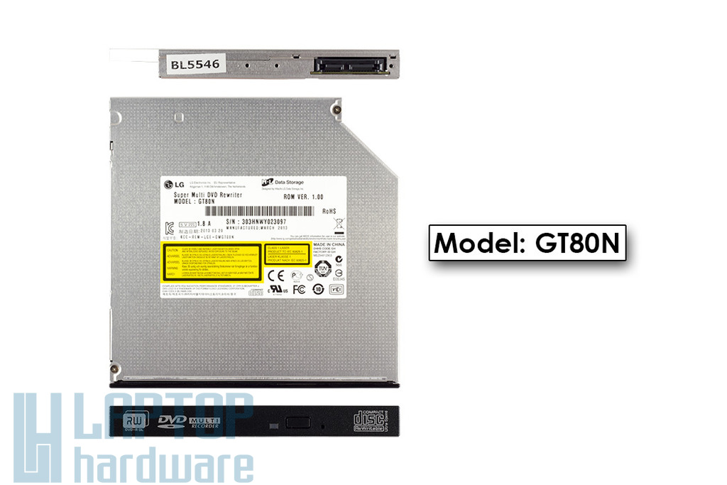 LG SATA laptop DVD-író, GT80N