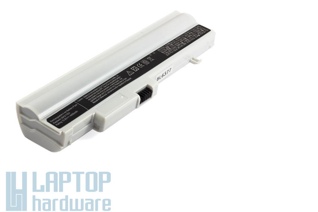 LG X120, X130 helyettesítő új 6 cellás fehér laptop akku/akkumulátor (LBA211EH)