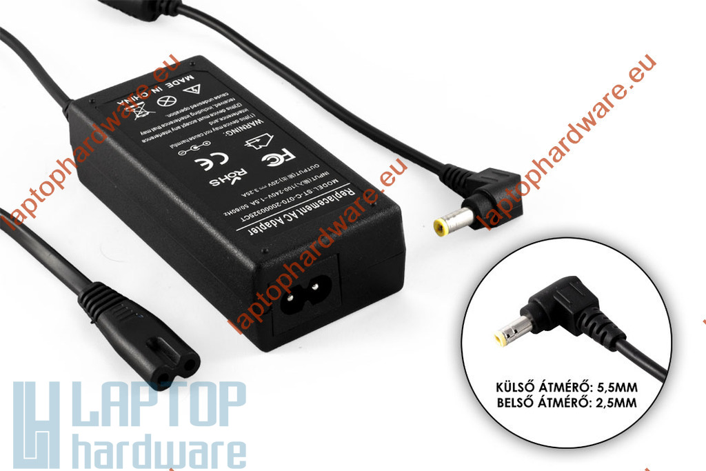 LiteOn 20V 3.25A 65W helyettesítő használt laptop töltő (PA-1650-01)