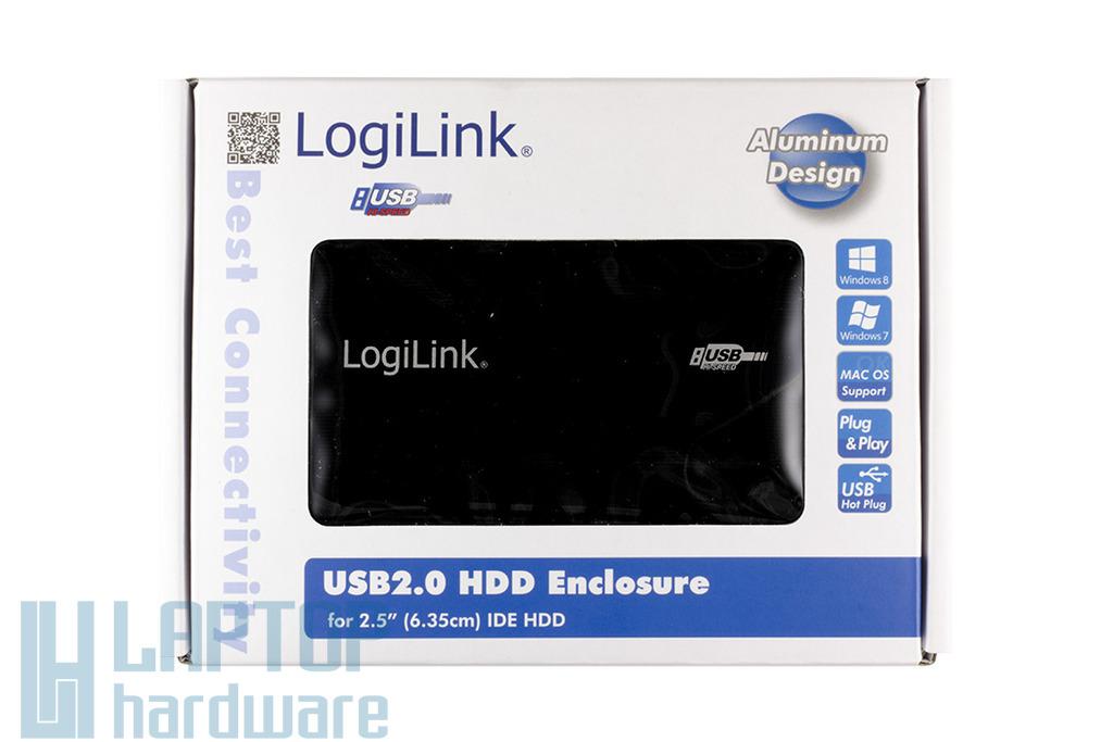 Logilink 2.5 IDE (PATA) HDD USB külső ház