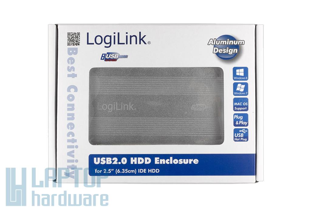 Logilink 2.5'' IDE (PATA) HDD USB-s szürke külső ház (UA0040A)