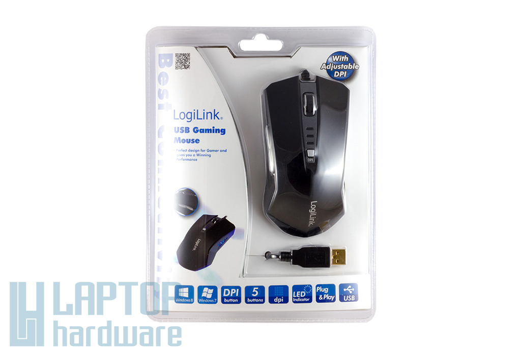LogiLink USB-s fekete gamer egér (ID0105)