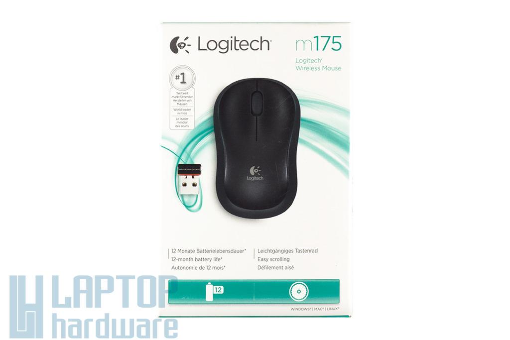 Logitech m175 USB fekete optikai vezeték nélküli egér (910-002778)
