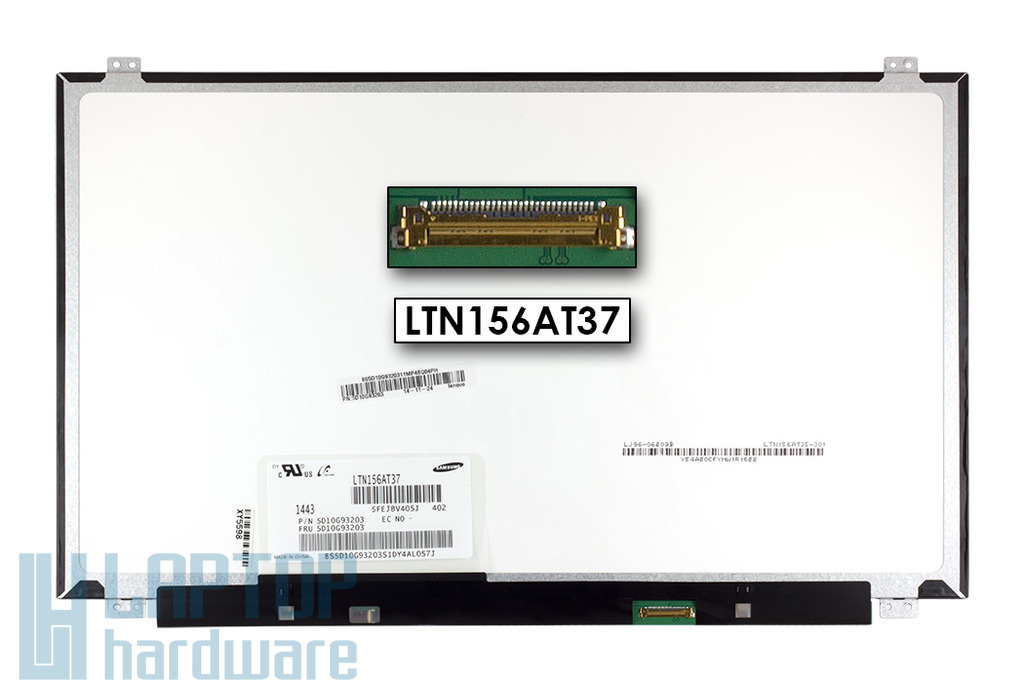 LTN156AT37-402 használt 15.6'' 1366x768 WXGA LED matt képernyővédő fóliás fényes laptop kijelző