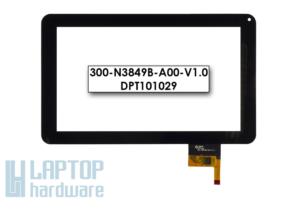 Érintő panel, touchscreen M-Tech aTAB9S tablethez (300-N3849B-A00-V1.0)