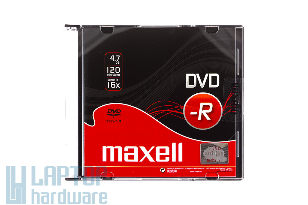 Maxell DVD lemez DVD-R 16x Slim tok, 275608.30.TW