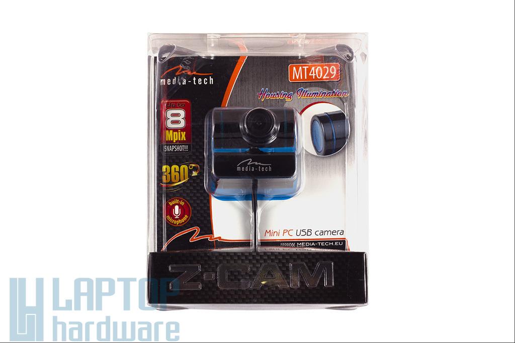 Media-Tech 1.3 megapixeles USB-s webkamera beépített mikrofonnal (MT4029)