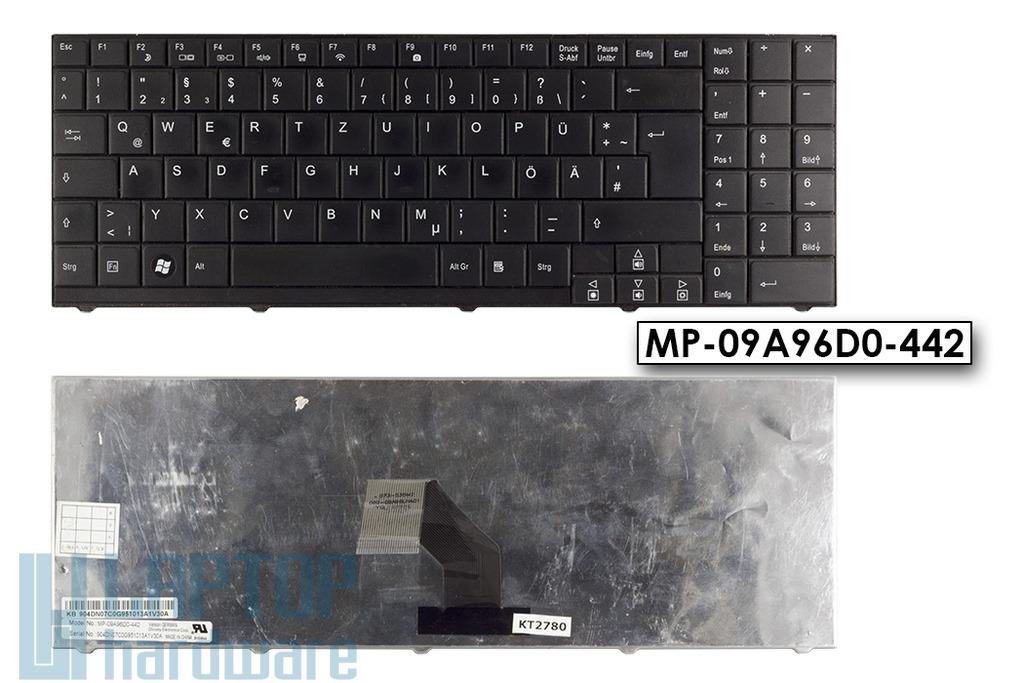 Medion Akoya P6618, MD97620 használt német laptop billentyűzet, MP-09A96D0-442