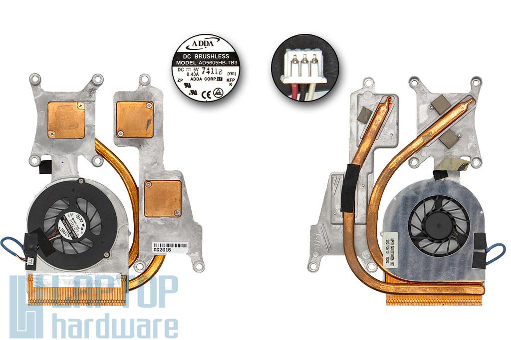 Medion MD96380, MD96464, MIM2280 használt komplett hűtés (AD5605HB-TB3)
