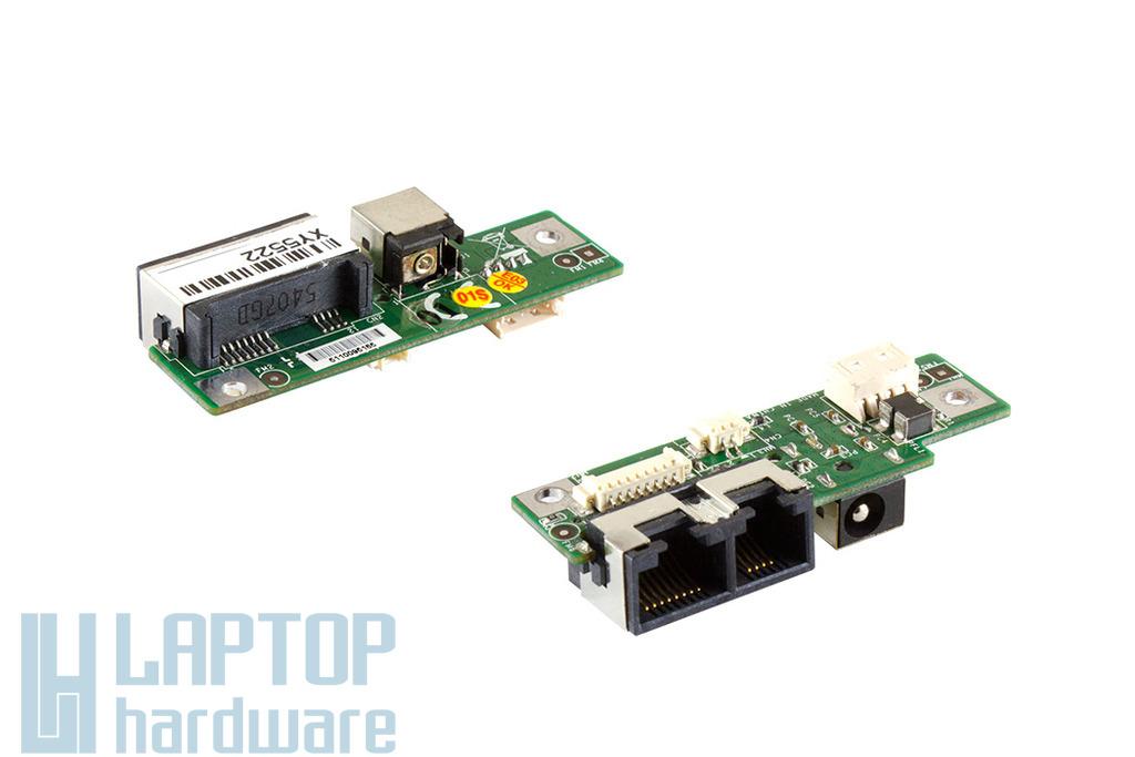 Medion SIM2050 laptophoz használt DC/LAN/modem panel (MS-10352)