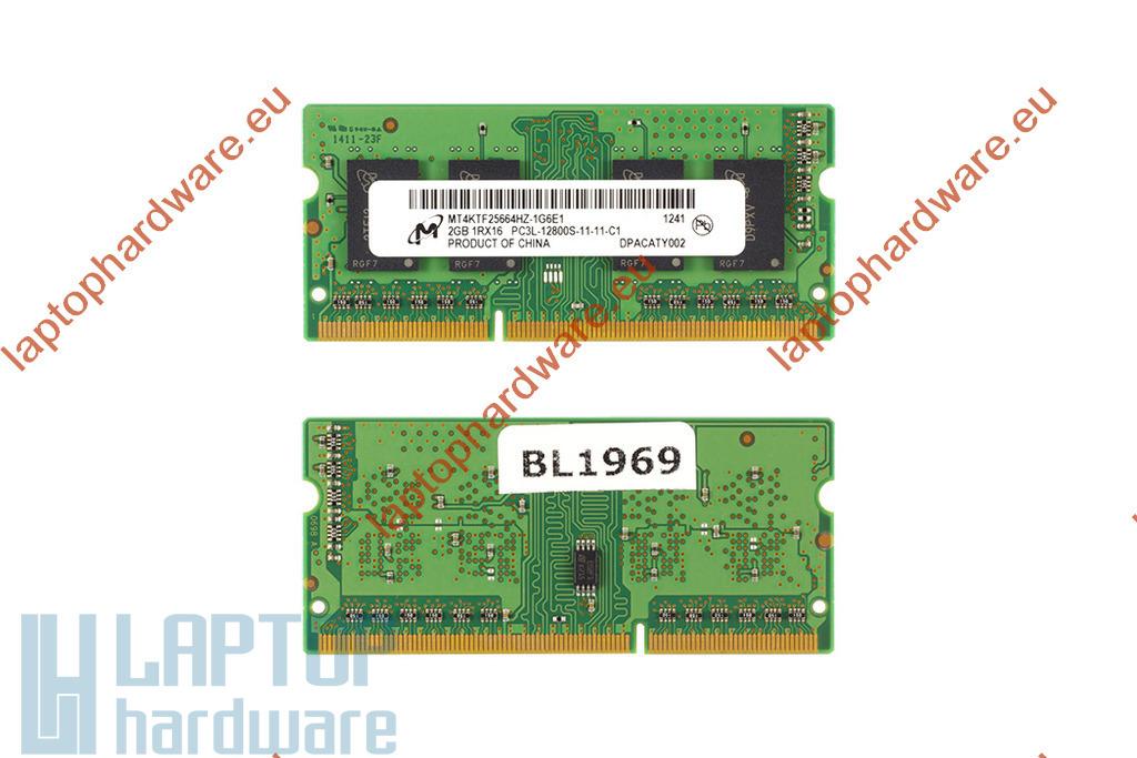 2GB DDR3 1600MHz használt laptop memória