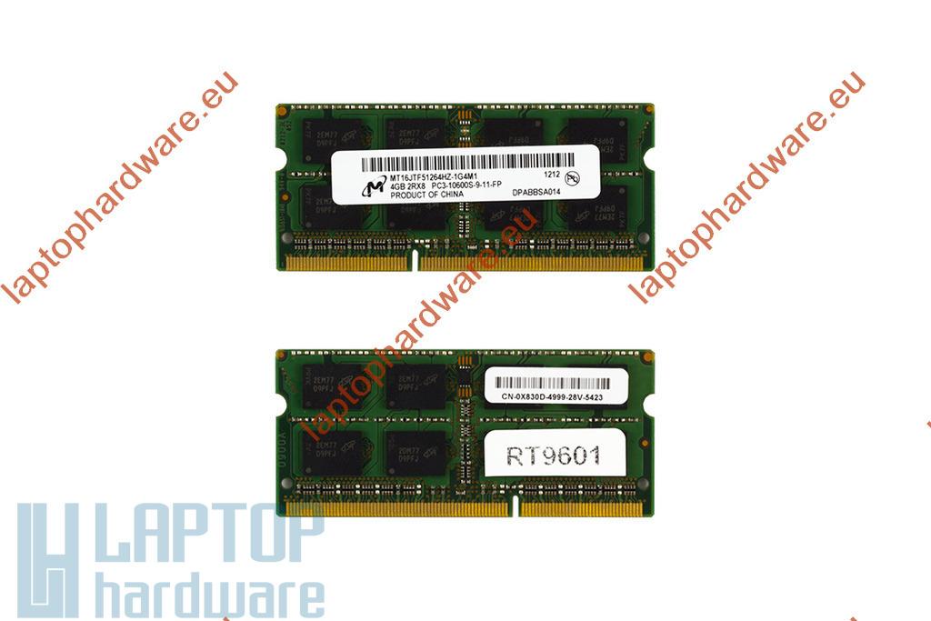 4GB DDR3 1333MHz használt laptop memória