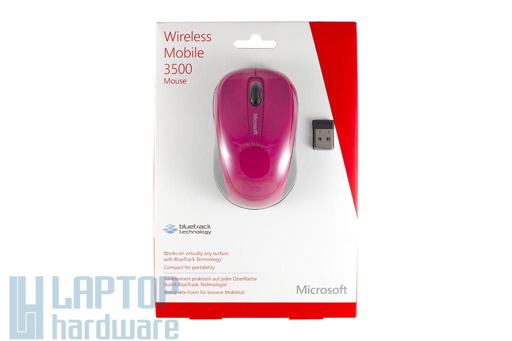 Microsoft Mobile 3500 USB-s rózsaszín optikai egér, Vezeték nélküli