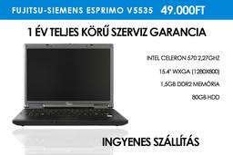 Fujitsu-Siemens Esprimo V5535 használt notebook 1,5GB RAM | 80GB HDD | Wi-Fi