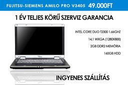 Fujitsu-Siemens Amilo Pro V3405 használt laptop Intel Core Duo T2300 1,66GHz | 2GB RAM | 160GB HDD | Wi-Fi