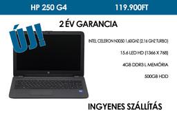 HP 250 G4 | Intel Celeron N3050 1,60GHz | 4GB RAM | 500GB winchester | WIFI | Bluetooth | HDMI | Webkamera | Win 10 | 2 év garancia!