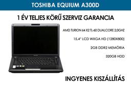 Toshiba Equium A300D használt notebook | AMD Turion 64 X2 TL-60 DualCore 2,0GHz | 2GB RAM | 320GB HDD | WiFi | FireWire | Webkamera