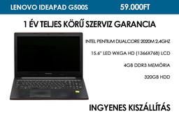 Lenovo IdeaPad G500s használt notebook | Intel Pentium DualCore 2020M 2,4GHz | 4GB RAM | 320GB HDD | WiFi | Bluetooth | Webkamera