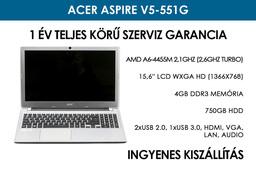 Acer Aspire V5-551G használt notebook | AMD A6-4455M 2,1GHz (2,6GHz turbo) | 4GB RAM | 750GB HDD | WiFi | Bluetooth | Webkamera