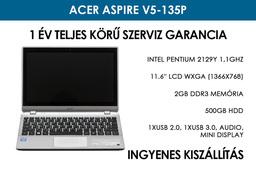 Acer Aspire V5-135P használt netbook | Intel Pentium 2129Y 1,1GHz | 2GB RAM | 500GB HDD | WiFi | Bluetooth | Webkamera