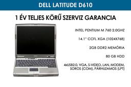 Dell Latitude D610 használt laptop | Intel Pentium M 760 2.0GHz | 2GB RAM | 80GB HDD