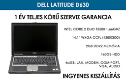 Dell Latitude D630 használt laptop | Intel Core 2 Duo T5500 | 2GB RAM | 160GB HDD | WiFi