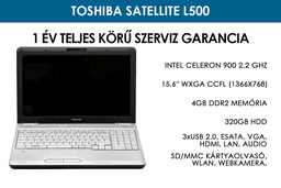 Toshiba Satellite L500 használt laptop | Intel Celeron 900 2,2 GHz | 4GB RAM | 320 GB HDD | WIFI