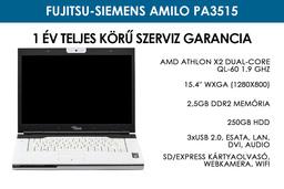 Fujitsu-Siemens Amilo Pa3515 használt laptop | AMD Athlon X2 Dual-Core QL-60 1.9 GHz | 2,5GB RAM | 250GB HDD | WIFI