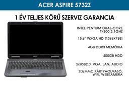 Acer Aspire 5732z használt notebook | Intel Pentium T4300 2.1GHz | 4GB RAM | 500GB HDD | WiFi