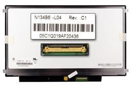 Gyári új fényes 13.4'' HD (1366x768) LED laptop Slim kijelző (csatlakozó: 40 pin - jobb)