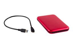 2.5'' SATA HDD USB3.0-s piros külső ház