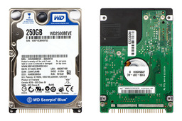 250GB 5400RPM 2,5'' IDE (PATA, Ultra ATA/100) használt laptop winchester, HDD